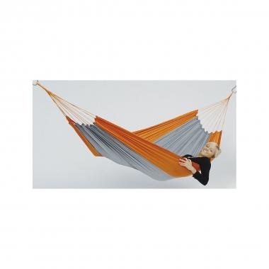 Leichthängematte Silk Traveller techno orange-grau
