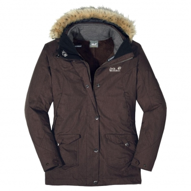 Jack Wolfskin Wave Hill Parka Women - coffee-brown / L