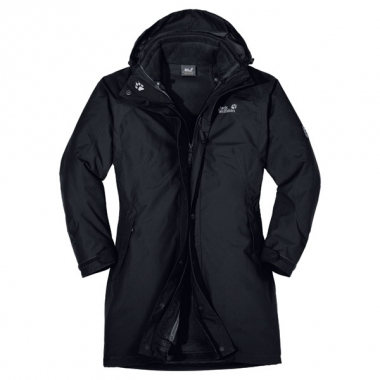 Jack Wolfskin Ottawa Coat Women - black / XL