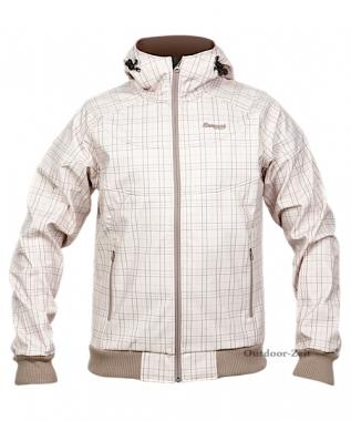 Bergans Mandal Jacket - lightbrown-dustybluecheck / M