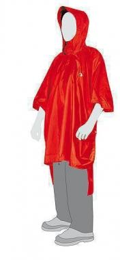 Tatonka Poncho - red / XL-XXL