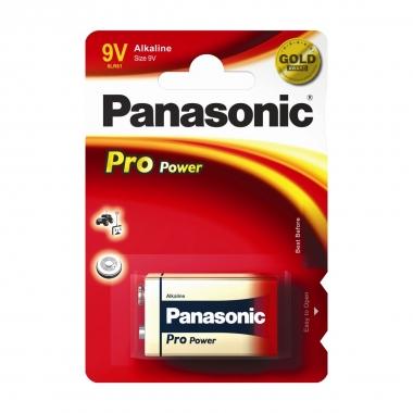 Panasonic Alkaline Batterien Power Max 3 9V Block, 0,68 Ah