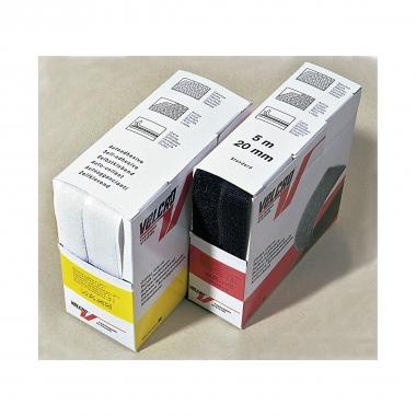 Velcro Haken und Flausch 20 mm, weiß, 5m Box
