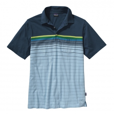 Patagonia Mens SS Squeaky Clean Polo - jacktar-clearpool / L