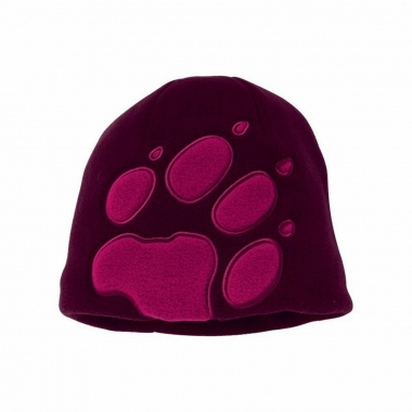 Jack Wolfskin Kids Front Paw Hat - dark-berry / One Size