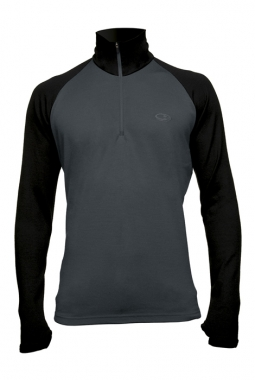 Icebreaker Tech Top Men - charcoal-black / M