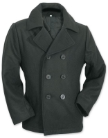 Mens Pea Coat schwarz, Größe: L