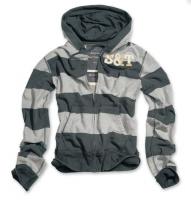 Stripe Hoodi grau/blaugrau