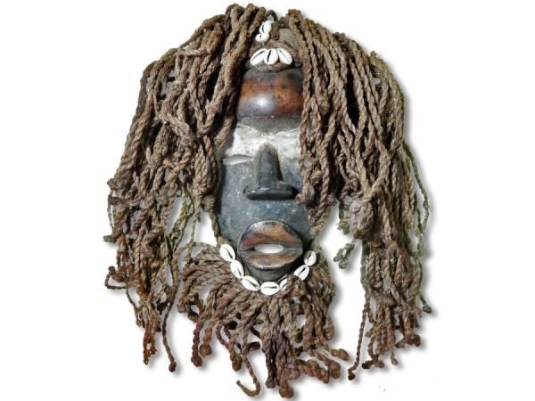 Dan-Maske, Elfenbeinküste/Afrika 40cm