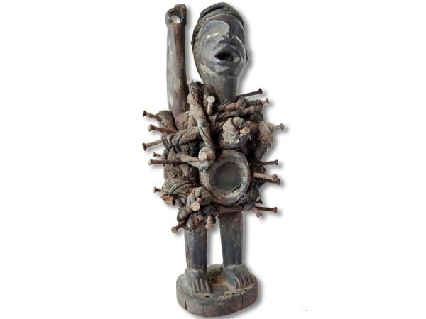 Nkisi, Schutzfigur der Bakongo 34cm