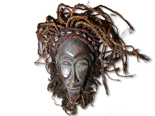 Chokwe Maske DR Kongo/Congo Afrika 39cm
