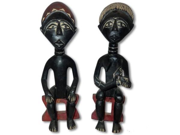 Ashanti Paar mit Kind 43cm