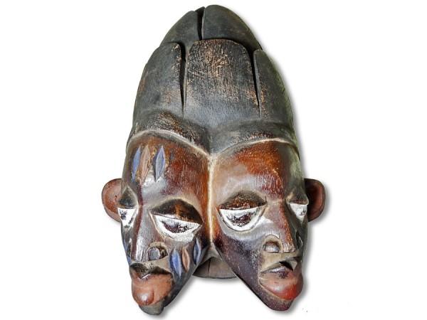 Yoruba Doppelgesicht Maske Nigeria/Afrika 28cm