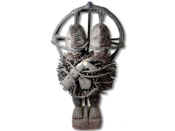 Nagelfetisch der Bakongo 64cm