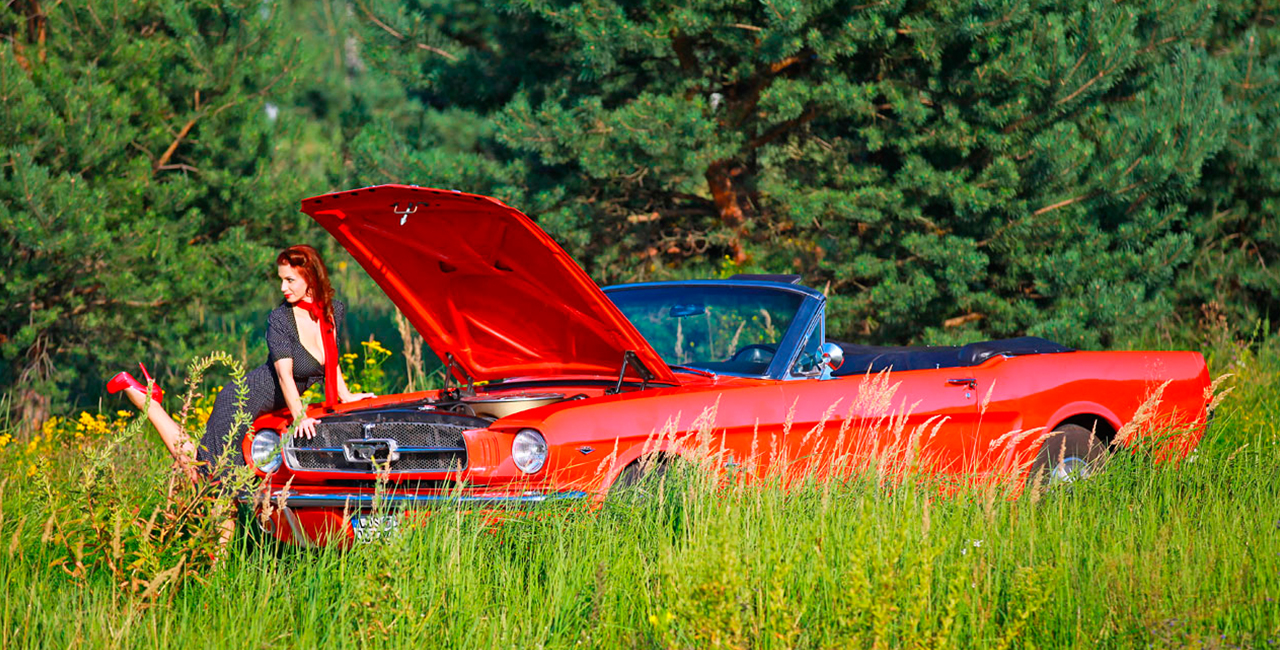 1 Tag Oldtimer (Ford Mustang) selber fahren in Berlin-Schönefeld