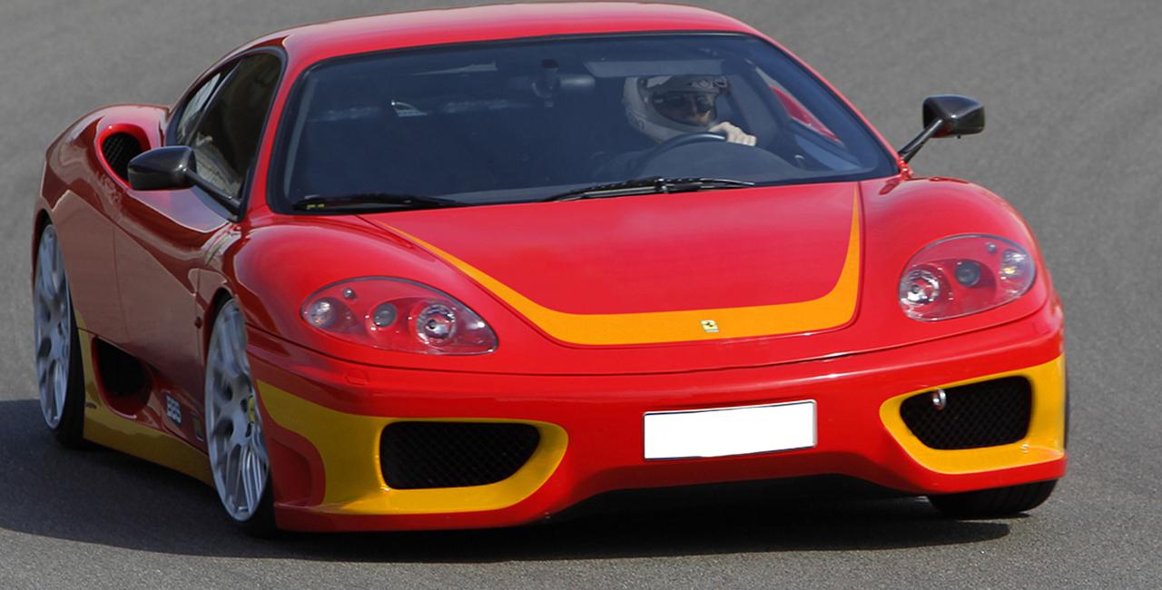 3 Runden Renntaxi Ferrari F360 auf dem Spreewaldring
