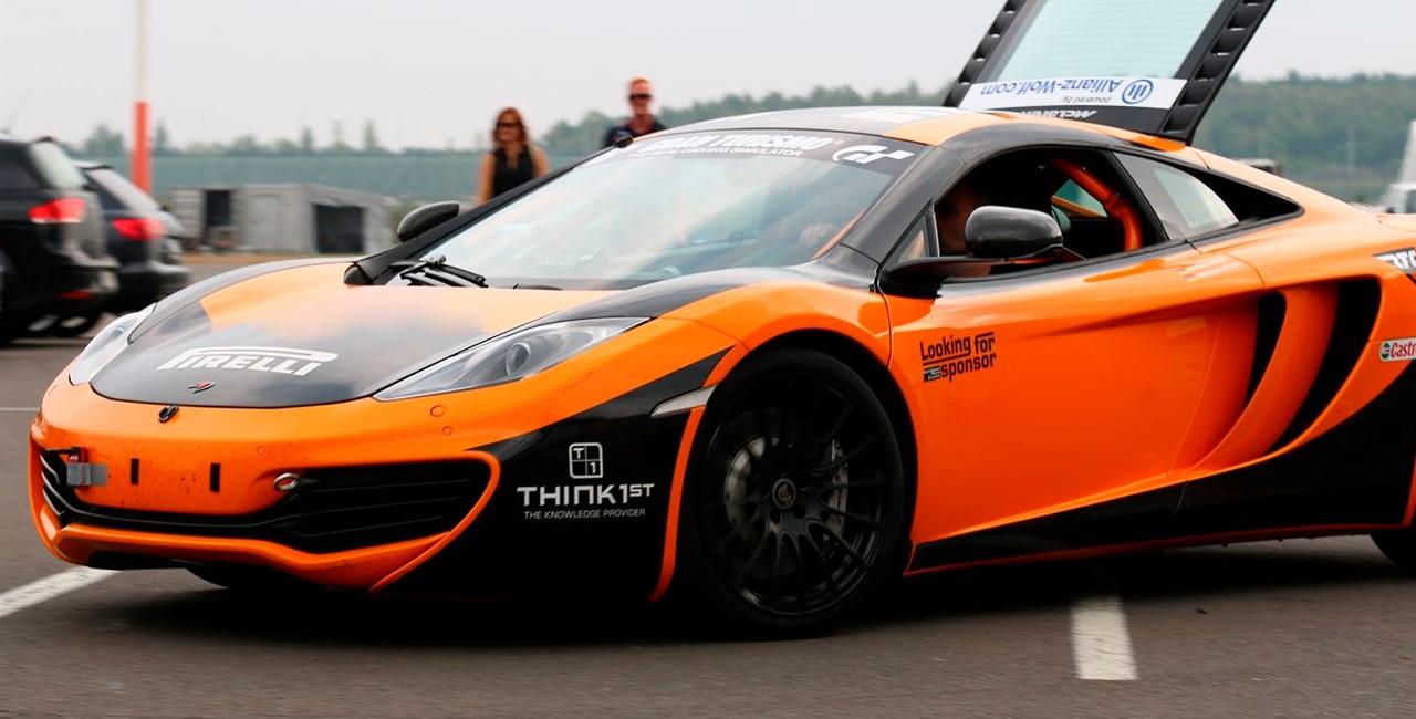 3 Runden Renntaxi McLaren auf dem Spreewaldring