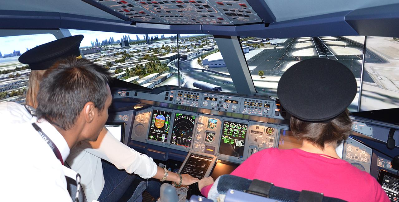 Flugsimulator Boeing 747 in Düsseldorf, NRW