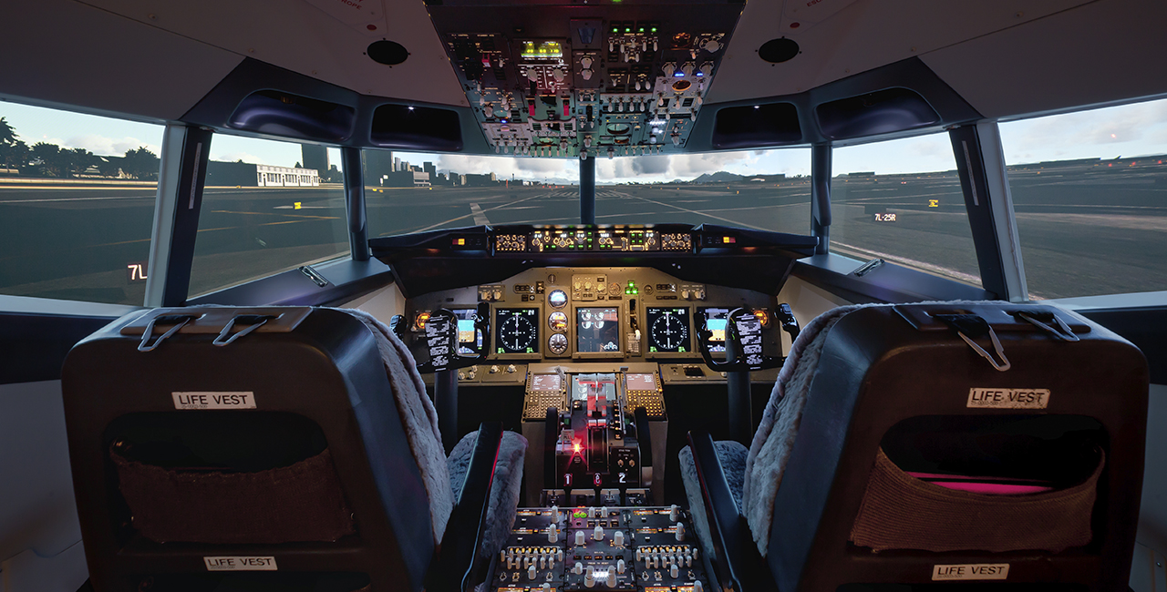 60 Min. Flugsimulator Boeing 737 in Frankfurt-Kalbach