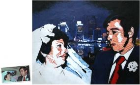 Pop Art Einzelportrait (60x50) nach Roy Lichtenstein München