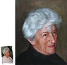 Portrait n. Foto photorealistisches Ölgemälde (120x90) München