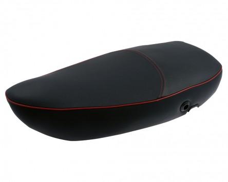 Sitzbank PIAGGIO für Vespa S/ET2/ET4/LX/LXV50-150ccm schwarz Keder: rot