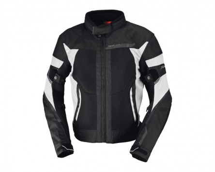 Motorradjacke IXS ZEPHYROS schwarz-weiß Gr.2XL