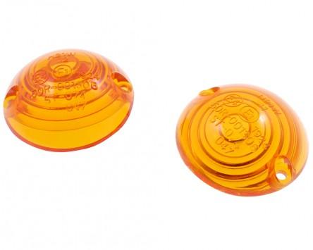 Blinkergläser für ochsenaugen Blinker, gelb, Paar