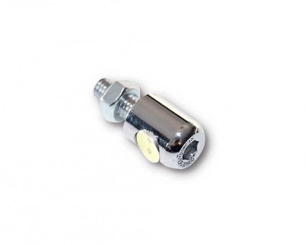 Kennzeichenbeleuchtung LED rund, verchromt, D. 13 mm mit Bolzen M6, Motorrad