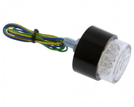 Rücklicht Mini LED BULLET, rund, mit schwarzem Gehäuse, M8, Motorrad