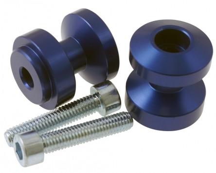 Schwingenadapter für Montageständer MP Bobbins Alu, blau, M6 x 1.0 mm, Paar