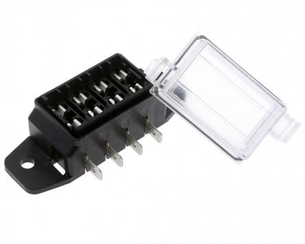 Sicherungskasten MTA 4fach flach ATV Quad Abmessungen LxBxH - 80 x 27 x 36,5 mm