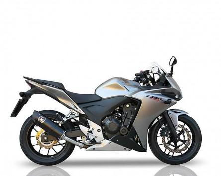 Auspuff Endtopf IXIL HEXOVAL XTREM schwarz Honda CBR 500 R / CB 500 F