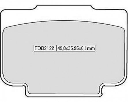 Bremsbeläge / Bremsklötze FERODO FDB 2122 P