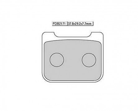 Bremsbeläge / Bremsklötze FERODO FDB 2171 P