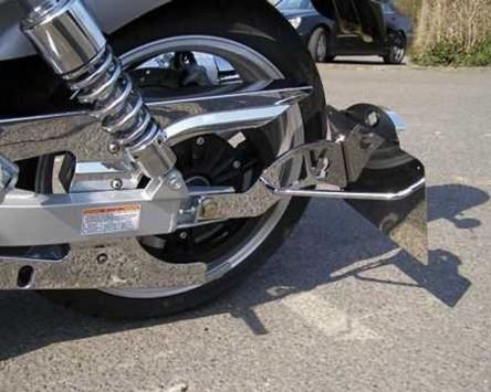 Kennzeichenhalter Genscher seitlich Harley Davidson FXD Modelle 06-, chrom