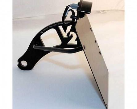 Kennzeichenhalter schwarz Genscher Harley Davidson Softtail Modelle, 84-07
