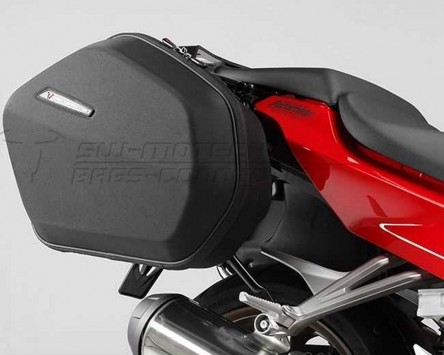 Seitenkoffer System Aero ABS ABS/600D HCF Polyester. Honda VFR 800 F (14-).