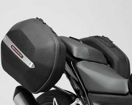 Seitenkoffer System Aero ABS ABS/600D Nylon. Schwarz. Honda CB500F/X, CBR500RR.