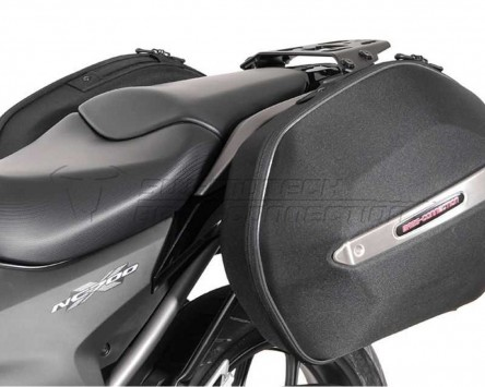 Seitenkoffer System Aero ABS. 31 L. ABS/600D nylon, schwarz, Honda NC 700 X, 12-