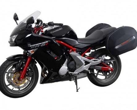 Seitenkoffer System Aero ABS. ABS/600D nylon, schwarz, Kawasaki ER6-f / n 09-
