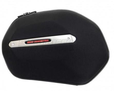 Seitenkoffer System Aero ABS. ABS/600D nylon, schwarz, Kawasaki Versys 07-