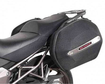 Seitenkoffer System Aero ABS. ABS/600D nylon, schwarz, Kawasaki Versys1000 12-