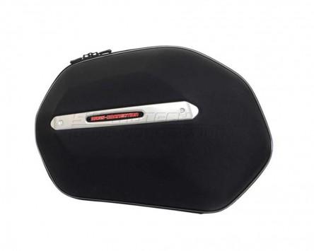 Seitenkoffer System Aero ABS. ABS/600D nylon, schwarz, Yamaha XJ-6/Div/F 09-
