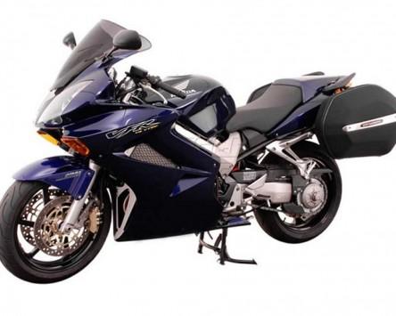 Seitenkoffer System Aero ABS/600D nylon, schwarz, Honda VFR 800 V-TEC, 02-07