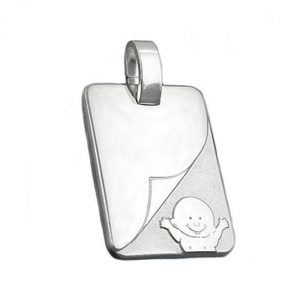 Anhänger, Baby matt-glänzend Silber 925