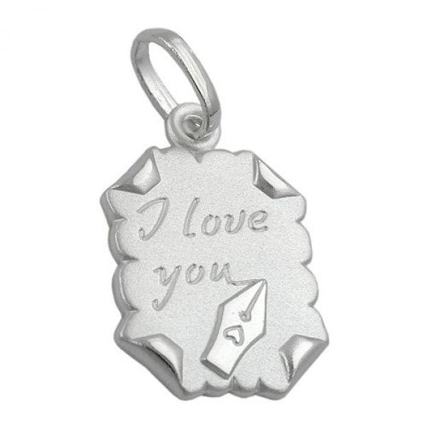 Anhänger, Brief -I love you- Silber 925