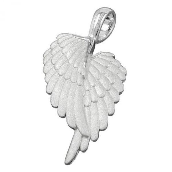 Anhänger, Engelflügel matt, Silber 925