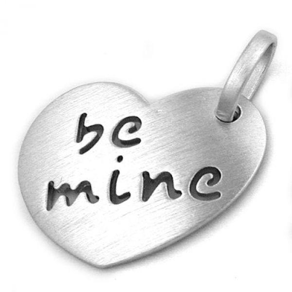 Anhänger, Herz -be mine- Silber 925