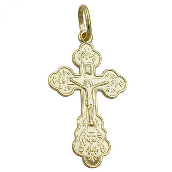 Anhänger, Kreuz mit Jesus, 9Kt GOLD